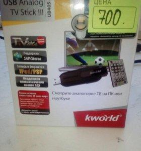ТВ тюнер аналоговый KWorld USB sticklll