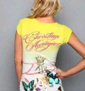 Футболка  с бабочками Christian Audigier 44-46