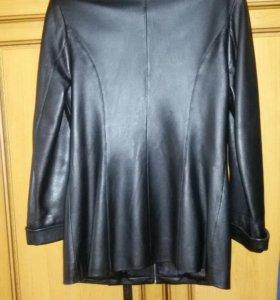 Куртка женская на молнии, натуральная кожа