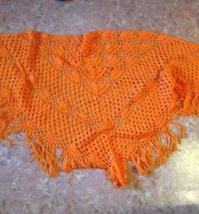 Накидка оранжевая новая