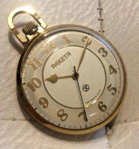 Часы в позолоте Ракета 70-х годов