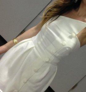 Белое вечернее платье р-р 40-42