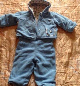 Комплект на 9-12мес(полукомбез+куртка)осень-весна