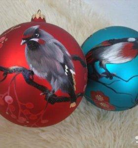 """Елочные шары """"райские птицы"""""""