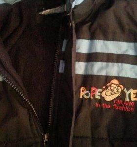 Теплая детская курточка зима/осень