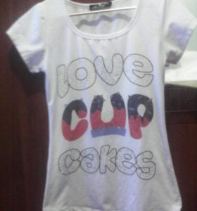 Футболка :Love Cup Caces.