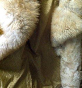 Куртка из мутона с отделкой песец р42-44