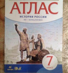 Атлас истории России 7 класс