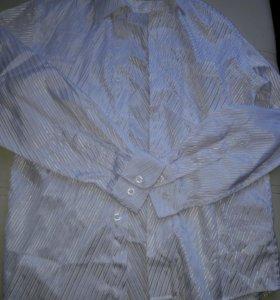 Нарядная белая рубашка 134