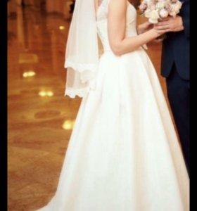Свадебное платье От дизайнера Татьяна Каплун+шубка
