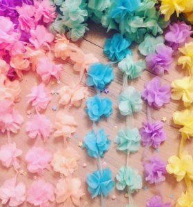 Шифоновые цветы для рукоделия