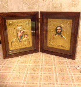 Икона Казанская Божьей Матери и Спаситель Наш