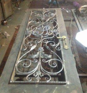 изготовление кованных дверей...ворот...мебели и.т.