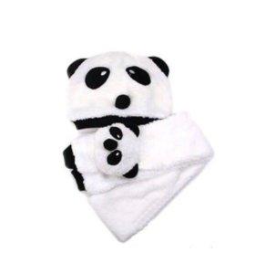 Шапочка и шарфик Панда