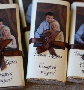Сладкий подарок.Шоколад с фото. Обертка на шоколад