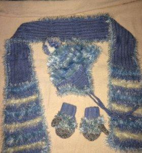Шапка/шарф/варежки