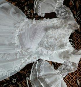 Свадебное платье (туфли в подарок 37р.)