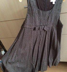 Продам платье-баллон, коричневый,б/у