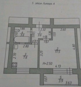 Квартира 1 комнатная.
