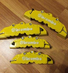 Накладки на суппорта Brembo желтые