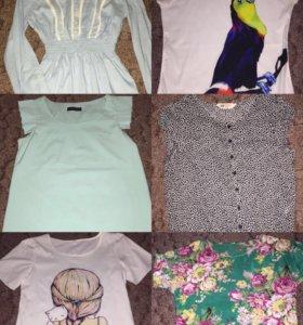 Рубашки, блузки, платья, юбки, свитера и кофты для