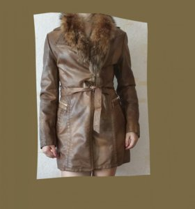 Утепленная кожаная куртка. Торг.