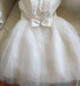 Короткое свадебное платье  р 42.новое