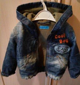 Куртка джинсовая, утепленая (флис)