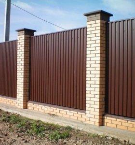 Забор, Козырьки,Ворота