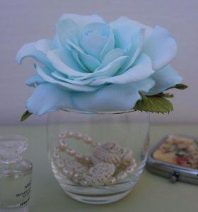 Заколки-зажимы с цветами из фоамирана