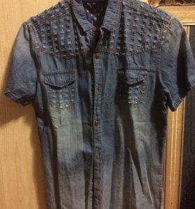 Джинсовая рубашка (подростковая)