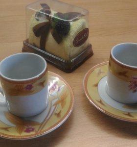 Подарок+кофейный набор на 2 персоны