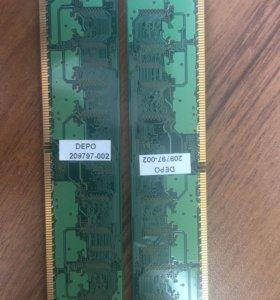 Оперативная память DDR2 по гигу