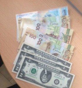 Банкноты Сочи Крым доллар
