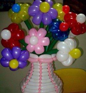 Букет,цветы из шаров