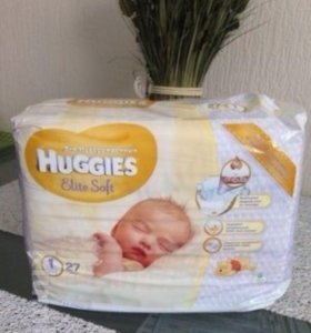 Huggies elite soft 1  размер