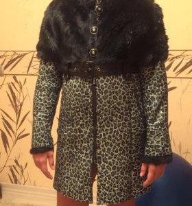 Зимнее пальто дубленка