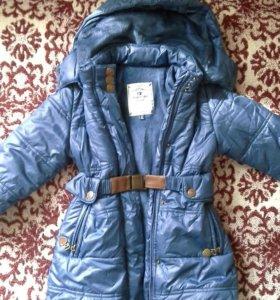 Пальто для девочки 98 р-р