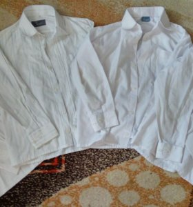 Рубашки школьные на р.122-128