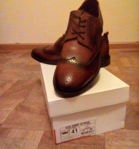 Туфли натуральная кожа 42 размер.
