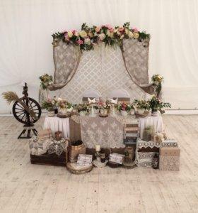 Оформление свадьбы в любом стиле!