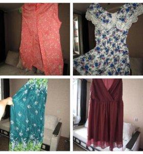 Блузки, платье, сарафан. Разные размеры