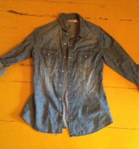 Джинсовая рубашка 42-44