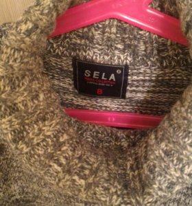 Серый свитер на 8-9 лет