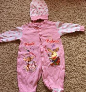 Новый костюмчик для новорожденной девочки