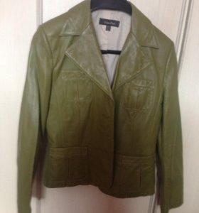 Пиджак кожаный новый