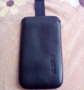 Чехол для телефона кожа 13*7,5 см