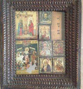 Комплект малых икон 19-20 века