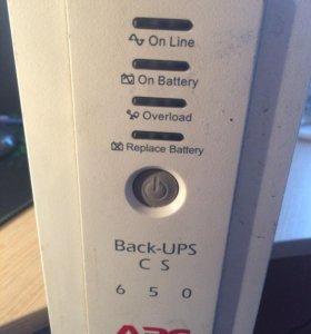 Источник бесперебойного питания APC Back-UPS BK650