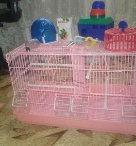 Клетка для грызунов и попугаев